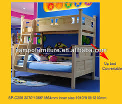 High Quality Wooden Bunk Bed Can Split Into Two Single Beds Kids - Kids wooden bunk beds