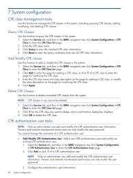 cpe class 7 system configuration cpe class management tasks query cpe