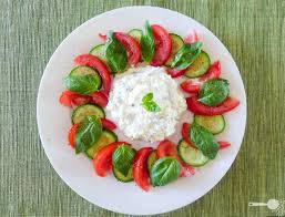 Goat Cottage Cheese by Herbed Cottage Cheese Caprese Style Salad Wholesome Cook