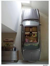 unusual furniture ideas creative jaguar bookshelf gray color