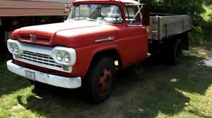 Ford Old Truck Parts - 1960 f600 ford dump truck startup youtube