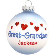 personalized great grandson glass ornament family special