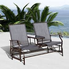 Patio Rocking Chairs Metal Outsunny 2 Seater Patio Glider Rocking Chair Metal Swing Bench