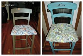 How To Reupholster A Bar Stool Recovering Bar Stools U0026 Recovering Chairs 5 Easy Steps Thrifty