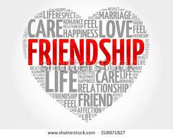 friendship heart friendship concept heart word cloud stock vector 318671927