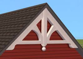 gable ornament base object in white marina s sims