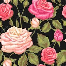 imagenes de rosas vintage patrón transparente con rosas vintage decorativos flores retros