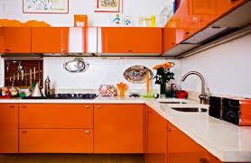 orange kitchen design orange cabinets contemporary kitchen