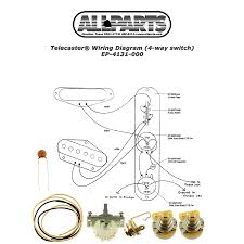 4 way switch wiring kit for telecaster allparts com