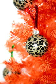 diy leopard print ornaments and easy tree decor