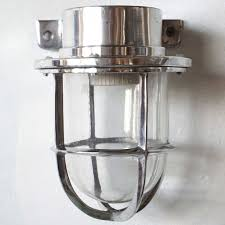 Industrial Guard Sconce by Vintage Style Industrial Aluminum Wall Mount Caged Sconce Light