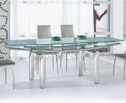 Kitchen Table With Stainless Steel Top - delectable stainless steel dining table glass top decorate