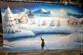 Stage Backdrops Theater Stage Scenic Backdrops Airbrush Painting By Richard