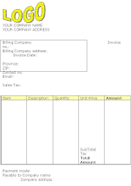 construction invoice template microsoft standard invoice template