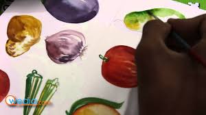 draw fruits u0026 vegetables with water color painting youtube
