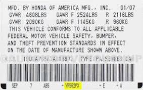 locating your vehicle u0027s paint code u2013 racingjunk news