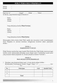 contoh surat perjanjian pembangunan renovasi rumah