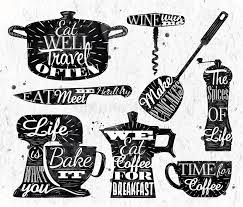 symbole cuisine restaurant de lettrage de vintage de symbole de cuisine illustration