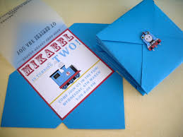 create your own thomas the train birthday invitations templates
