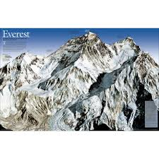 Mt Everest Map Mount Everest 50th Anniversary 2 Sided Thematic Map National