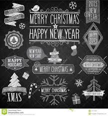 vector winter holiday party invitation set light stock vector