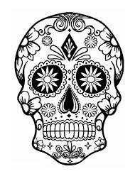skull flower drawing skull flower finished dia de los