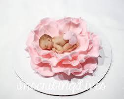 sleeping baby fondant cake topper handmade edible baby