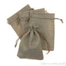 mesh gift bags 2017 10 14cm 13 18cm linen original fabric drawstring bag candy