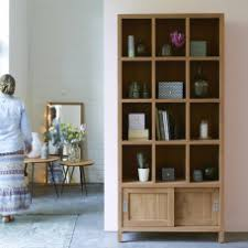 solid natural teak bookcases and low priced teak bookcases tikamoon