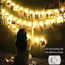 battery powered cl light amazon com led photo clip string lights 20 led 13 3 feet with 20