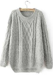cable sweater grey sleeve cable knit sweater abaday com