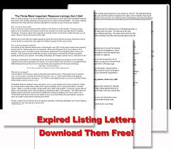 expired listing letters download free marketing real estate