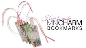 how to make mini charm bookmarks with jennifer bosworth of