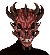 latex halloween mask kits amazon com forum novelties men u0027s devil skull latex mask red one