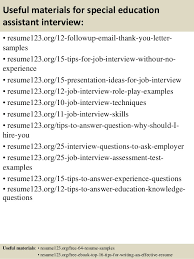 Teacher Assistant Resume Sample by Special Education Assistant Resume The Incredible Special