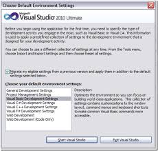 visual studio reset application settings changing the default environmental settings in visual studio 2010