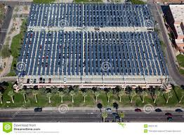 solar panels over parking garage stock photography image 26231792