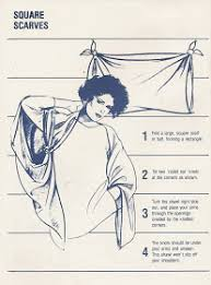 80s hair styles with scarves came across a manual from the 80s clearly depicted by the