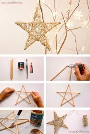 rustic star decorations for home how to make stars for christmas tree diy crafts tips string