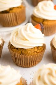 Healthy Pumpkin Cupcakes With Cream Cheese Frosting Amy U0027s