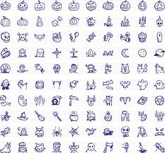 spooky icons u2014 100 hand drawn halloween icons by hdg