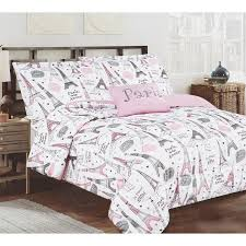 paris bedding set full turn her bedroom into a paris dream using this lovely bedding set