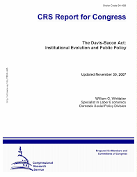 the davis bacon act institutional evolution and public policy