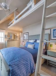 Ceiling Fan Kids Room by Cottage Boys Bedroom With Loft Over Bed And Acrylic Ceiling Fan