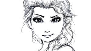 cartoon draw elsa frozen princess sketch image 2652644 by
