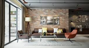 how to decorate a contemporary living room living rooms with exposed brick walls the home designer co