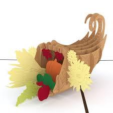 3d cornucopia pop up thanksgiving card lovepop