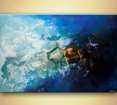 blue and white painting painting contemporary blue abstract art blue painting 7924
