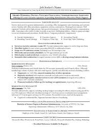 executive assistant resume exles administrative assistant resume exles