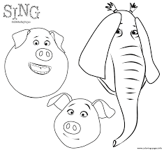 animals from sing animation coloring coloring pages printable